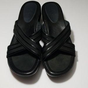 Cole haan Womens Nike air black wedge sandals 7.5